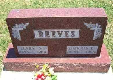 REEVES, MARY A - Grant County, Kansas | MARY A REEVES - Kansas Gravestone Photos