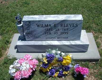 REEVES, WILMA LUCILLE - Grant County, Kansas | WILMA LUCILLE REEVES - Kansas Gravestone Photos