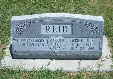 "REID, JACK EDWARD ""JACKIE"" - Grant County, Kansas | JACK EDWARD ""JACKIE"" REID - Kansas Gravestone Photos"