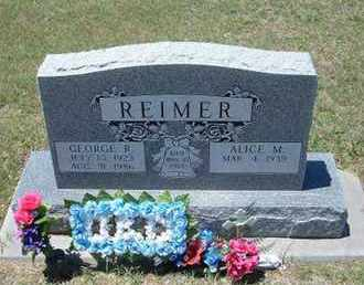 REIMER, GEORGE R - Grant County, Kansas   GEORGE R REIMER - Kansas Gravestone Photos