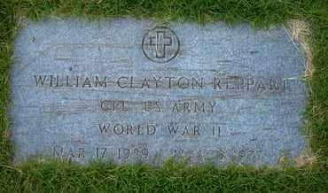 REPPART, WILLIAM CLAYTON   (VETERAN WWII) - Grant County, Kansas   WILLIAM CLAYTON   (VETERAN WWII) REPPART - Kansas Gravestone Photos