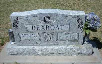 REXROAT, E. JOYCE - Grant County, Kansas | E. JOYCE REXROAT - Kansas Gravestone Photos