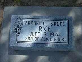 RICE, FRANKLIN TYRONE - Grant County, Kansas | FRANKLIN TYRONE RICE - Kansas Gravestone Photos