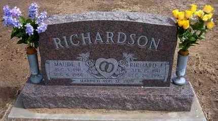 MCKEEGAN RICHARDSON, MAUDE IRENE - Grant County, Kansas   MAUDE IRENE MCKEEGAN RICHARDSON - Kansas Gravestone Photos
