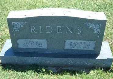 RIDENS, LINA A - Grant County, Kansas | LINA A RIDENS - Kansas Gravestone Photos