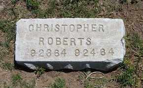 ROBERTS, CHRISTOPHER - Grant County, Kansas | CHRISTOPHER ROBERTS - Kansas Gravestone Photos