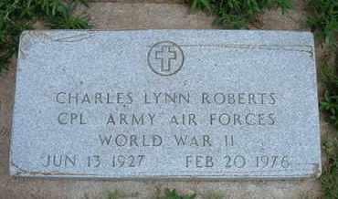 ROBERTS, CHARLES LYNN   (VETERAN WWII) - Grant County, Kansas | CHARLES LYNN   (VETERAN WWII) ROBERTS - Kansas Gravestone Photos