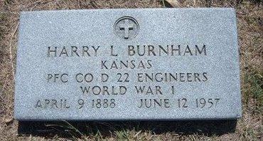 BURNHAM, HARRY L   (VETERAN WWI) - Gray County, Kansas | HARRY L   (VETERAN WWI) BURNHAM - Kansas Gravestone Photos