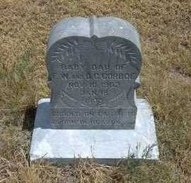GORBOE, BABY DAUGHTER - Greeley County, Kansas | BABY DAUGHTER GORBOE - Kansas Gravestone Photos