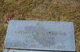 MATHEWS, GEORGE B   (VETERAN WWI) - Greeley County, Kansas | GEORGE B   (VETERAN WWI) MATHEWS - Kansas Gravestone Photos