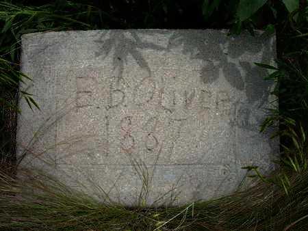 OLIVER, E  B - Greeley County, Kansas | E  B OLIVER - Kansas Gravestone Photos