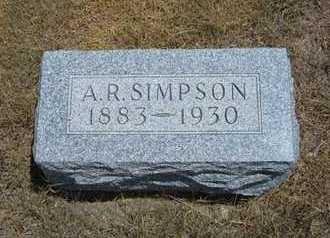 SIMPSON, A   R - Greeley County, Kansas | A   R SIMPSON - Kansas Gravestone Photos