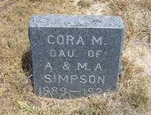 SIMPSON, CORA M - Greeley County, Kansas | CORA M SIMPSON - Kansas Gravestone Photos