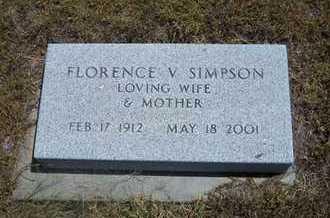 SIMPSON, FLORENCE V - Greeley County, Kansas | FLORENCE V SIMPSON - Kansas Gravestone Photos
