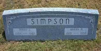 SIMPSON, MARY J - Greeley County, Kansas | MARY J SIMPSON - Kansas Gravestone Photos