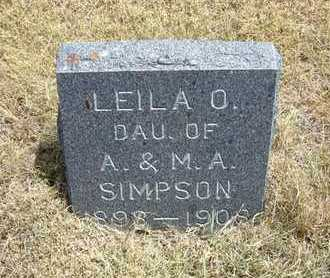 SIMPSON, LEILA O - Greeley County, Kansas | LEILA O SIMPSON - Kansas Gravestone Photos