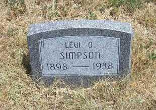 SIMPSON, LEVI O. - Greeley County, Kansas | LEVI O. SIMPSON - Kansas Gravestone Photos