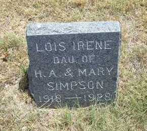 SIMPSON, LOIS IRENE - Greeley County, Kansas | LOIS IRENE SIMPSON - Kansas Gravestone Photos