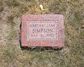 SIMPSON, MARTHA JANE - Greeley County, Kansas | MARTHA JANE SIMPSON - Kansas Gravestone Photos