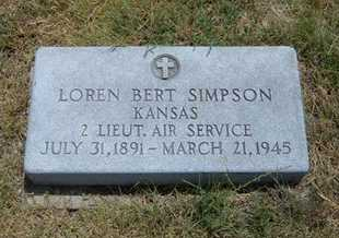 SIMPSON, LOREN BERT  (VETERAN) - Greeley County, Kansas | LOREN BERT  (VETERAN) SIMPSON - Kansas Gravestone Photos