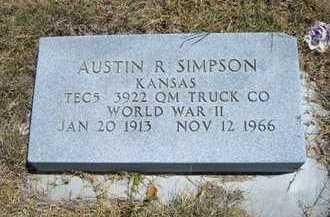 SIMPSON, AUSTIN R  (VETERAN WWII) - Greeley County, Kansas   AUSTIN R  (VETERAN WWII) SIMPSON - Kansas Gravestone Photos