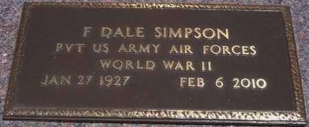 SIMPSON, FRANCES DALE   (VETERAN WWII) - Greeley County, Kansas | FRANCES DALE   (VETERAN WWII) SIMPSON - Kansas Gravestone Photos