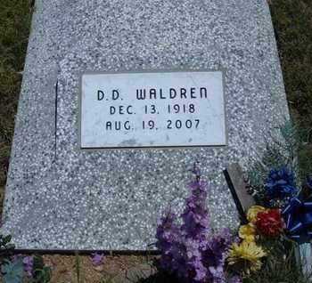 WALDREN, D   D - Greeley County, Kansas | D   D WALDREN - Kansas Gravestone Photos