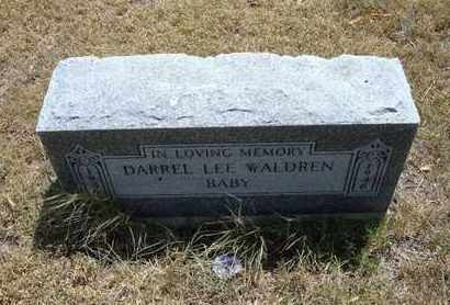 WALDREN, DARREL LEE - Greeley County, Kansas | DARREL LEE WALDREN - Kansas Gravestone Photos