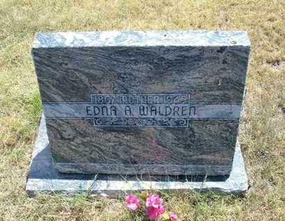 WALDREN, EDNA A. - Greeley County, Kansas | EDNA A. WALDREN - Kansas Gravestone Photos