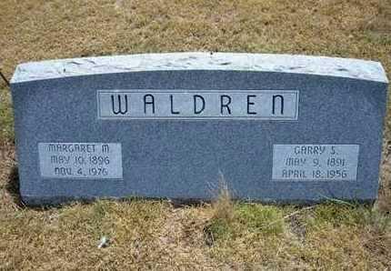 WALDREN, MARGARET M - Greeley County, Kansas | MARGARET M WALDREN - Kansas Gravestone Photos