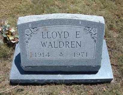 WALDREN, LLOYD E - Greeley County, Kansas | LLOYD E WALDREN - Kansas Gravestone Photos