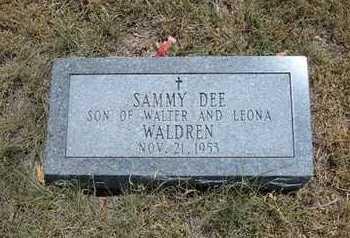 WALDREN, SAMMY DEE - Greeley County, Kansas | SAMMY DEE WALDREN - Kansas Gravestone Photos
