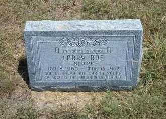 """YOUNG, LARRY RAE  """"BUDDY"""" - Greeley County, Kansas 