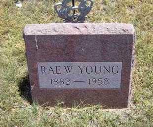 YOUNG, RAE WALDO - Greeley County, Kansas   RAE WALDO YOUNG - Kansas Gravestone Photos