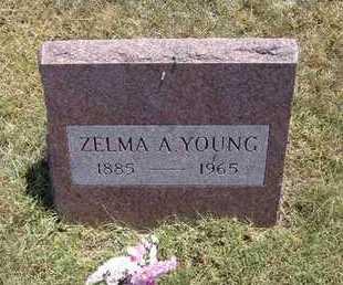 YOUNG, ZELMA A - Greeley County, Kansas | ZELMA A YOUNG - Kansas Gravestone Photos