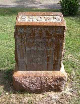 BROWN, CLAUDIA MAY - Hamilton County, Kansas | CLAUDIA MAY BROWN - Kansas Gravestone Photos