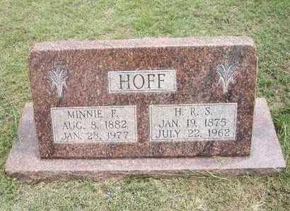 HOFF, MINNIE FRANCES - Hamilton County, Kansas | MINNIE FRANCES HOFF - Kansas Gravestone Photos