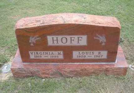 HOFF, LOUIS ROBERT - Hamilton County, Kansas   LOUIS ROBERT HOFF - Kansas Gravestone Photos