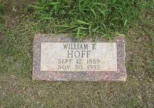 HOFF, WILLIAM F - Hamilton County, Kansas | WILLIAM F HOFF - Kansas Gravestone Photos