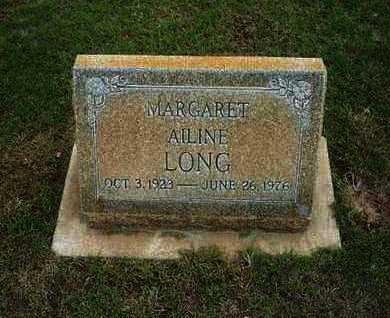 LONG, MARGARET AILINE - Hamilton County, Kansas | MARGARET AILINE LONG - Kansas Gravestone Photos