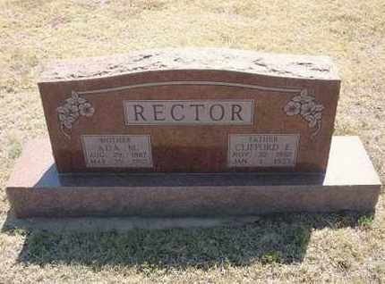RECTOR, CLIFFORD E. - Hamilton County, Kansas | CLIFFORD E. RECTOR - Kansas Gravestone Photos