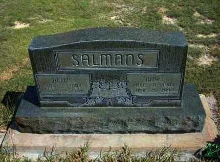 SALMANS, NELLIE - Hamilton County, Kansas | NELLIE SALMANS - Kansas Gravestone Photos