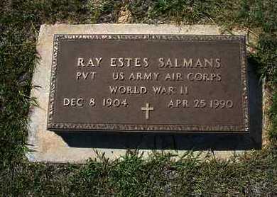 SALMANS  , RAY ESTES  (VETERAN WWII) - Hamilton County, Kansas   RAY ESTES  (VETERAN WWII) SALMANS   - Kansas Gravestone Photos