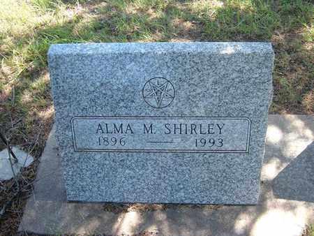 SHIRLEY, ALMA M - Hamilton County, Kansas | ALMA M SHIRLEY - Kansas Gravestone Photos