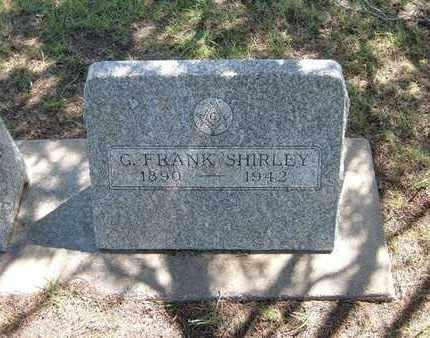 "SHIRLEY, GEORGE FRANCIS ""FRANK"" - Hamilton County, Kansas   GEORGE FRANCIS ""FRANK"" SHIRLEY - Kansas Gravestone Photos"