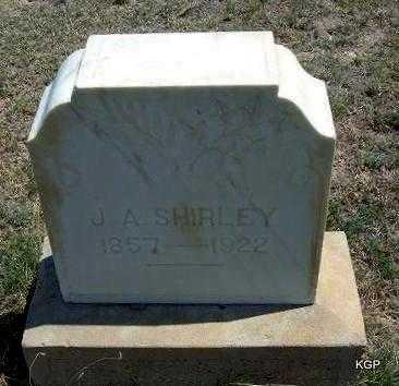 SHIRLEY, J  A - Hamilton County, Kansas   J  A SHIRLEY - Kansas Gravestone Photos