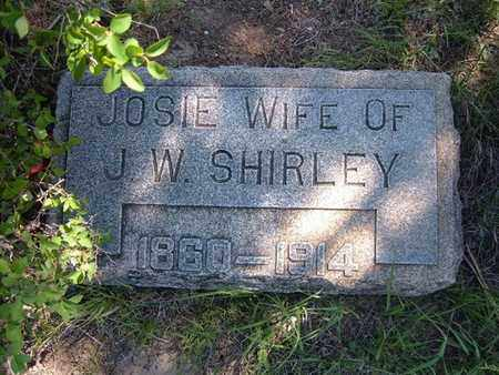 SHIRLEY, JOSIE - Hamilton County, Kansas | JOSIE SHIRLEY - Kansas Gravestone Photos