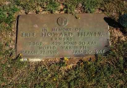 THAYER (VETERAN WWII), ERLE HOWARD - Hamilton County, Kansas | ERLE HOWARD THAYER (VETERAN WWII) - Kansas Gravestone Photos