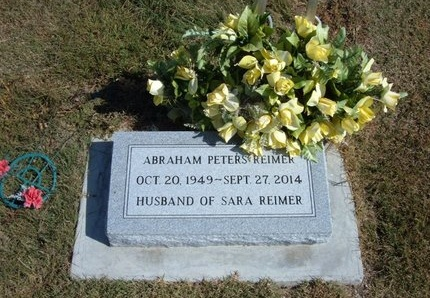 REIMER, ABRAHAM PETERS - Haskell County, Kansas | ABRAHAM PETERS REIMER - Kansas Gravestone Photos
