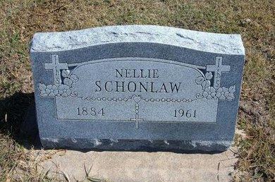 SCHONLAW, NELLIE - Haskell County, Kansas | NELLIE SCHONLAW - Kansas Gravestone Photos